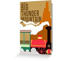 Big Thunder Mountain Poster Greeting Card