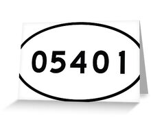 05401 zip code - Euro Oval Sticker Greeting Card