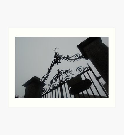church gates princetown Art Print