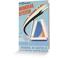 Walt Disney World Monorail Poster Greeting Card