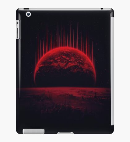Lost Home! Colosal Future Sci-Fi Deep Space Scene in diabolic Red iPad Case/Skin