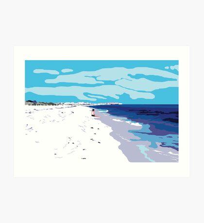 Biloxi Beach Art Print