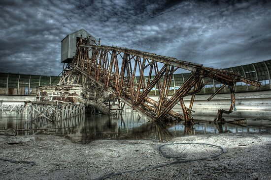 Fallen Gantry by Richard Shepherd