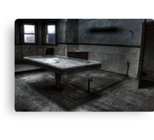 Morgue Slab Canvas Print
