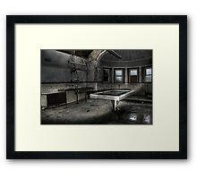 Slab and morgue Framed Print
