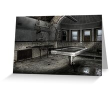 Slab and morgue Greeting Card