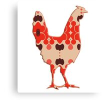 Rooster Cock Silhouette retro Canvas Print