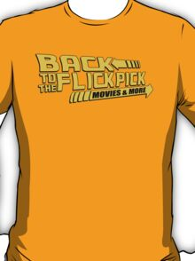 Back to the Flick Pick - Yellow Logo T-Shirt