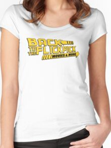 Back to the Flick Pick - Yellow Logo Women's Fitted Scoop T-Shirt