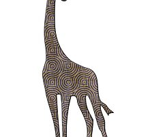 giraffe silhouette swirls by surgedesigns