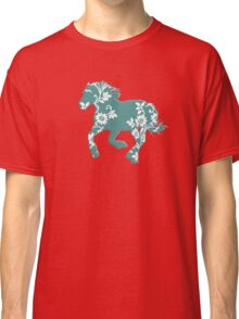 Horse Silhouette flowers Classic T-Shirt