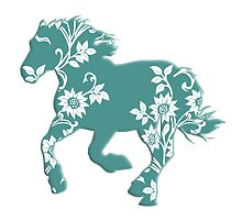 Horse Silhouette flowers by surgedesigns