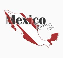 Mexico Diving Diver Flag Map One Piece - Short Sleeve