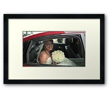 Waiting for the groom Framed Print
