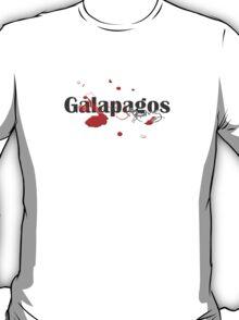 Galapagos Islands Diving Diver Flag Map T-Shirt