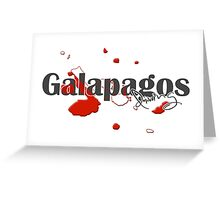 Galapagos Islands Diving Diver Flag Map Greeting Card