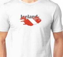 Iceland Diving Diver Flag Map Unisex T-Shirt