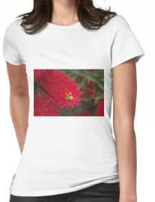 Red Callistemon Womens Fitted T-Shirt