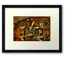 Train Controls Framed Print