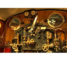 Train Controls Photographic Print