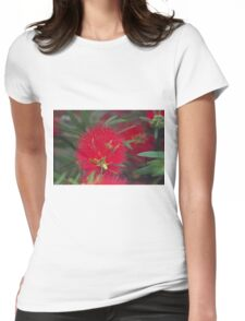 callistemon flower Womens Fitted T-Shirt