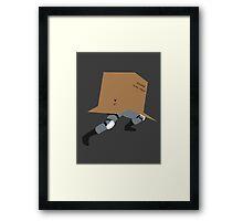 Snake In A Box Framed Print