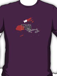 Fiji Islands Diving Diver Flag Map T-Shirt