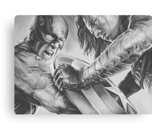 captain vs soldier Canvas Print