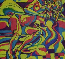 Contentment of the Sleeping Nude (Pure Chroma with Inks)- by Robert Dye