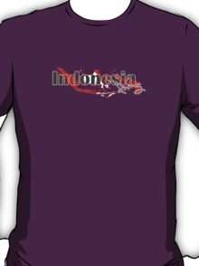 Indonesia Diving Diver Flag Map T-Shirt