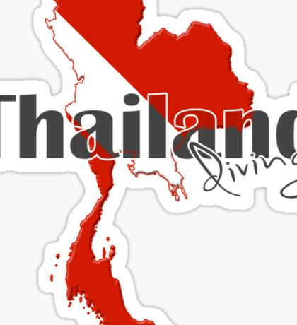Thailand Diving Diver Flag Map Sticker