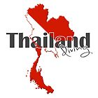 Thailand Diving Diver Flag Map by surgedesigns