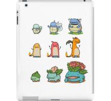 original starter pokemon minimalist iPad Case/Skin