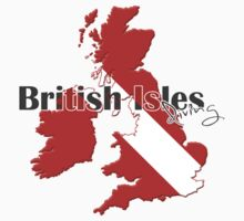 British Isles Diving Diver Flag Map Baby Tee