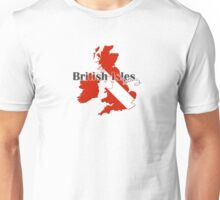 British Isles Diving Diver Flag Map Unisex T-Shirt