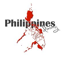 Philippines Diving Diver Flag Map by surgedesigns