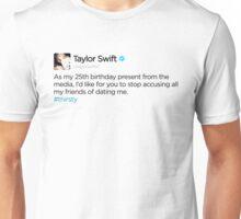 #THIRSTY taylor swift tweet Unisex T-Shirt