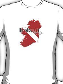 Ireland Diving Diver Flag Map T-Shirt