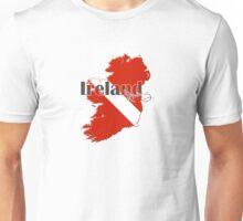 Ireland Diving Diver Flag Map Unisex T-Shirt