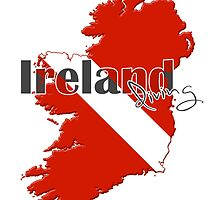 Ireland Diving Diver Flag Map by surgedesigns