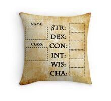 Blank RPG Character Sheet Throw Pillow