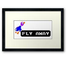 Flyaway Duck Framed Print
