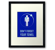 Towel Framed Print