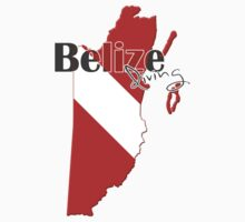 Belize Diving Diver Flag Map Kids Clothes