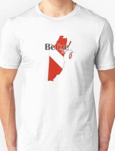 Belize Diving Diver Flag Map Unisex T-Shirt