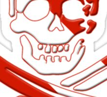 Scuba Diving Pirate Skull and Swords Sticker