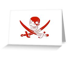 Scuba Diving Pirate Skull and Swords Greeting Card