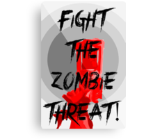 Human VS Zombies - Anti-Zombie Propaganda Canvas Print
