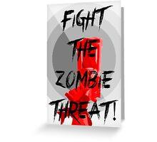 Human VS Zombies - Anti-Zombie Propaganda Greeting Card