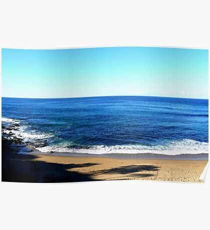 See the deep blue sea? from Angourie Headland  NSW Poster